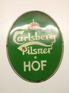 Ovalt Carlsberg emaljeskilt