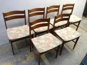 6 stk. spisebordsstole