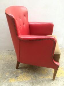 Rød lænestol