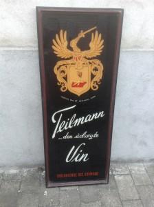 Teilmann Vin glasskilt
