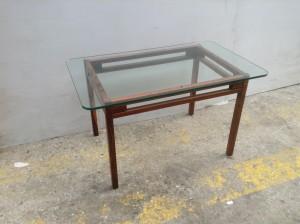 Palisanderbord med glasplade